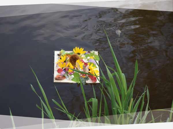 LandArt_Ideen_Blumen_Floß