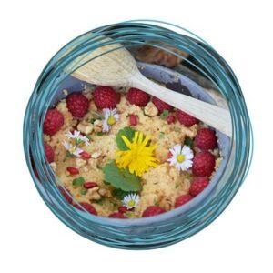 Wildkräuter Outdoorküche | Rezept Süßer Couscous