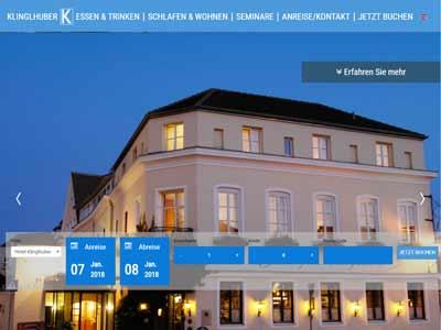 NEVEREST: Screenshot Homepage Hotel Klinglhuber